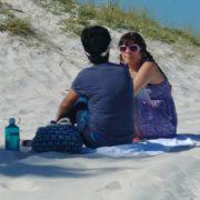Coaching practice on the white sugar sand beaches of Florida's Emerald Coast.