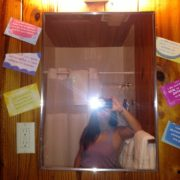 """Magical Alyssa capturing the Louise Hay """"tools"""" - mirror (for mirror play) and affirmations!"""